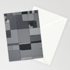 Grey Map  Stationery Cards