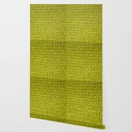 Yellow Bubble Row Textile Photo Art Wallpaper