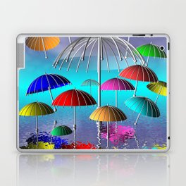 fly, umbrella, fly Laptop & iPad Skin