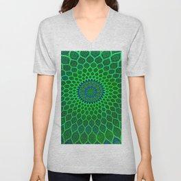 Green Arabic Mosaic Unisex V-Neck