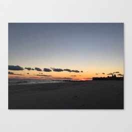 Long Beach Long Island Sunset Canvas Print