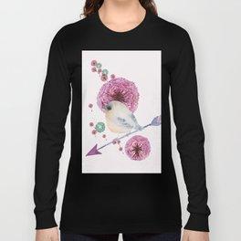 Cute Bird and Dandelion Long Sleeve T-shirt
