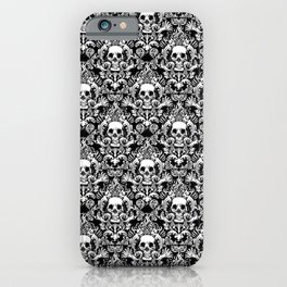 Skull Damask iPhone Case