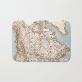Vintage Map of Canada (1905) Bath Mat