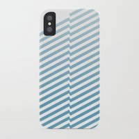 bands iPhone & iPod Cases featuring Blue Bands by blacknote