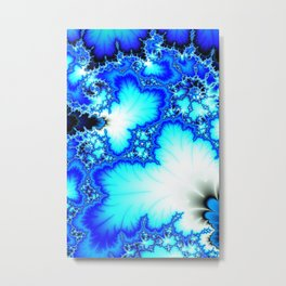 Frozen Fractal Terrain Metal Print