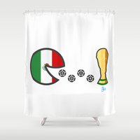 world cup Shower Curtains featuring Mexico World Cup 2014 by onejyoo