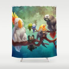 Griffins of a Feather Shower Curtain
