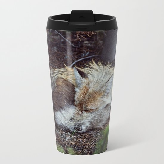 Sleeping Fox Metal Travel Mug