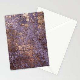 Purple and Copper Glamour Ink  Marble Texture Stationery Cards