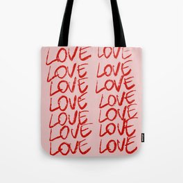 Handpainted collection: Love 1. Tote Bag