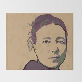 Simone de Beauvoir Throw Blanket