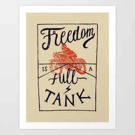 Freedom biker print Art Print