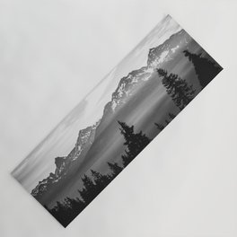 Morning in the Mountains Black and White Yoga Mat