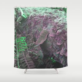 Pink Green Moss Shower Curtain