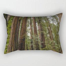 Redwood Forest Adventure VII - Nature Photography Rectangular Pillow
