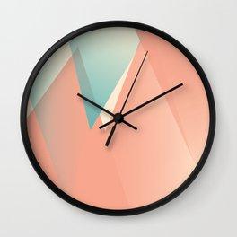 Pastel Peaks Wall Clock