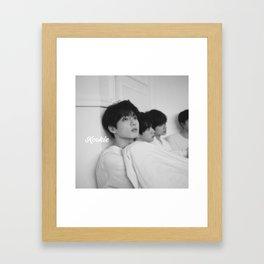 Kookie BTS Framed Art Print