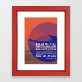 Litany Against Fear Framed Art Print