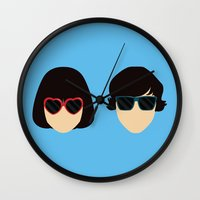 submarine Wall Clocks featuring Submarine by Loverly Prints