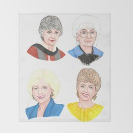 The Golden Girls Throw Blanket