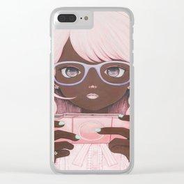 Gamergirl 3 p Clear iPhone Case