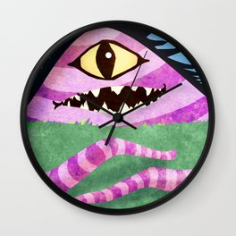 One Eyed Hill Monster Wall Clock