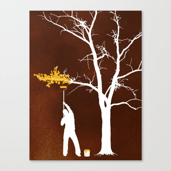 Relief Painting Canvas Print