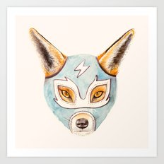 Andrew, the Fox Wrestler Art Print