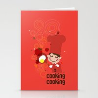 cooking Stationery Cards featuring Cooking Papa by inkdesigner