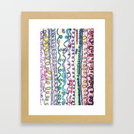 Curly hair types..curly hair dont care Framed Art Print