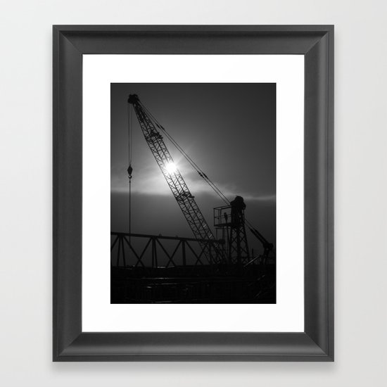 crane spotting... Framed Art Print