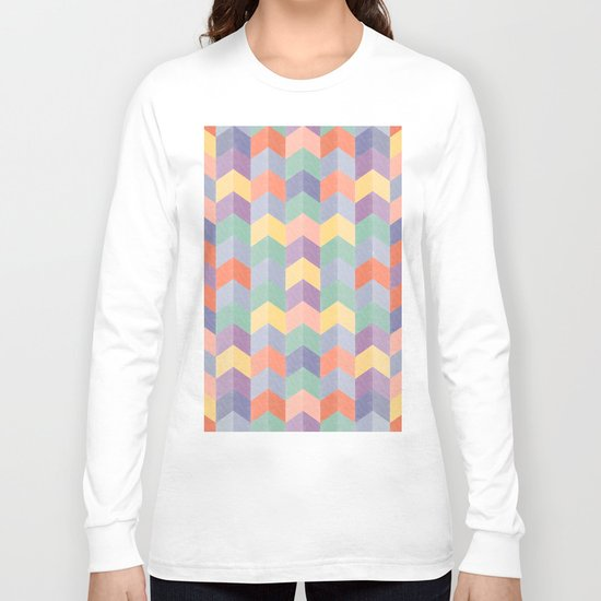 Colorful geometric blocks Long Sleeve T-shirt