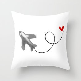 Fly to you Throw Pillow