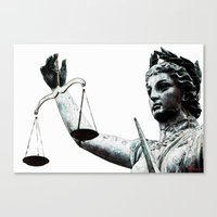 justice Canvas Prints featuring Justice ? by arnedayan