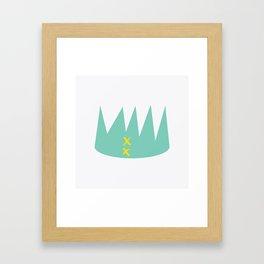 green crown Framed Art Print