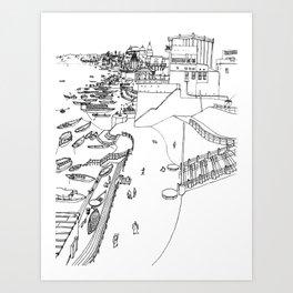 India - Ganges river in Varanasi Art Print