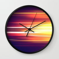 sonic Wall Clocks featuring Super Sonic by Emily Day