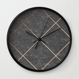 Copper & Concrete 01 Wall Clock