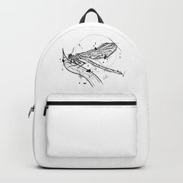 Dragonfly Handmade Drawing, Made in pencil and ink, Tattoo Sketch, Tattoo Flash, Blackwork Backpack
