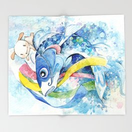Nemu's Tango no Sekku 2015 Throw Blanket