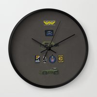 aliens Wall Clocks featuring Aliens by avoid peril
