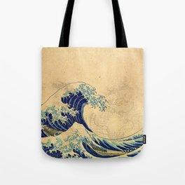 Hokusai parchment Tote Bag