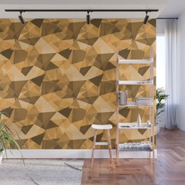 Abstract Geometrical Triangle Patterns 4 VA Bright Marigold - Spring Squash - Pure Joy - Just Ducky Wall Mural
