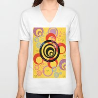 illusion V-neck T-shirts featuring Illusion by Ketjokha