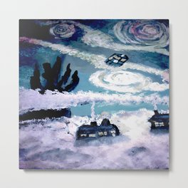 Tardis Stary Night Metal Print