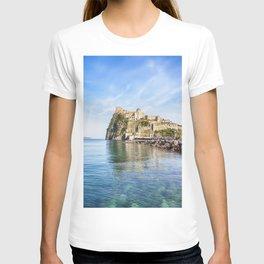 Italy Naples Ischia Aragonese Castles Coast Cities castle T-shirt