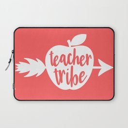 Teacher Gifts - Coral and White Laptop Sleeve