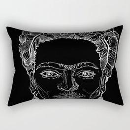 Geometric Black and White Drawing Frida Kahlo Rectangular Pillow