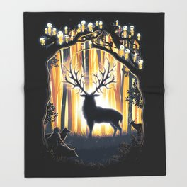 Master of the Forest Throw Blanket